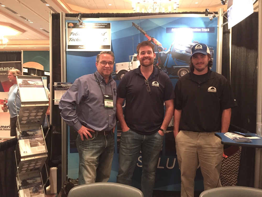 Randy Cordrey, Richard Smith and Keith Sommers at the Florida Rural Water Association Annual Conference.