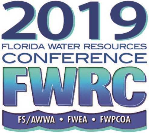 2019 Florida Water Resources Conference FWRC blue and green logo