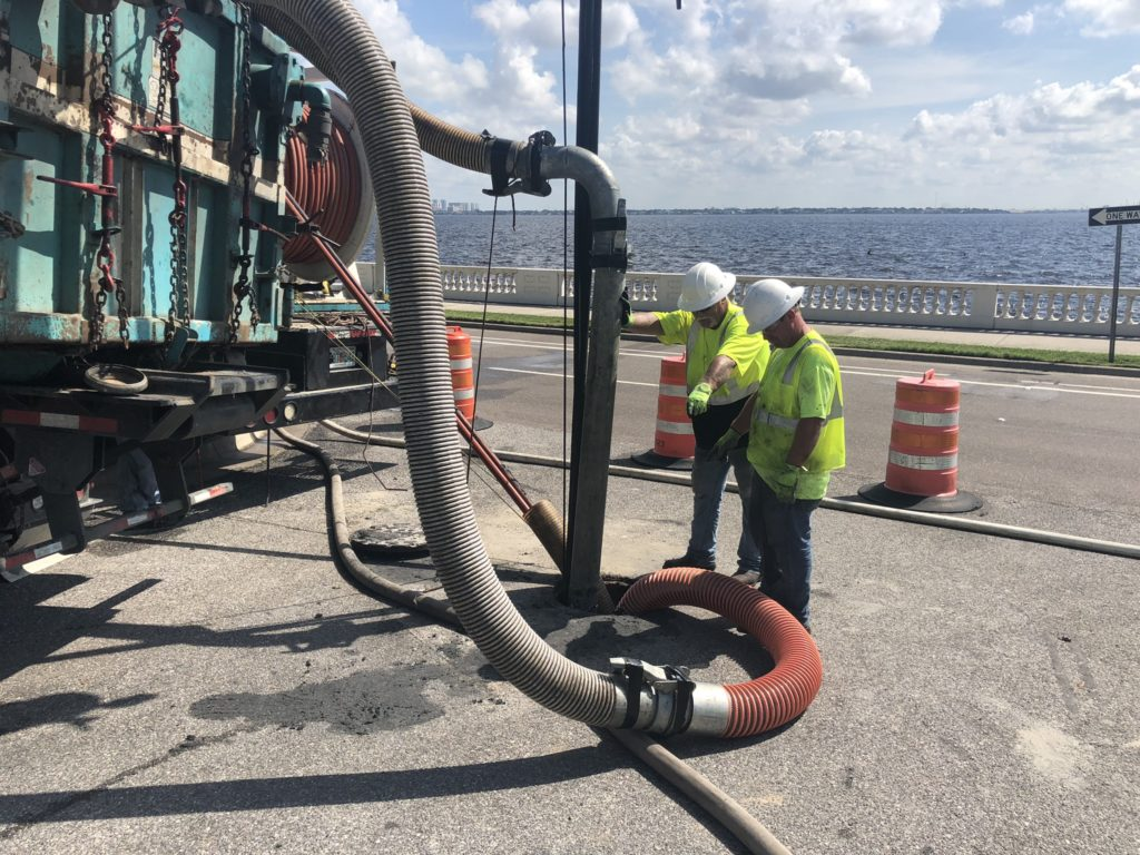 USST Crew performing large-diameter pipework in Tampa, Florida.