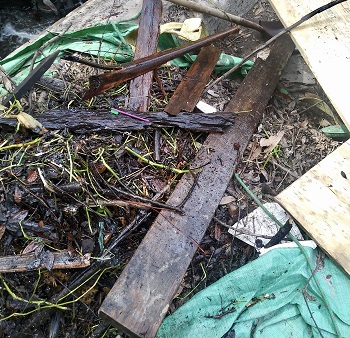 Debris removed from Stormwater Box Culvert.